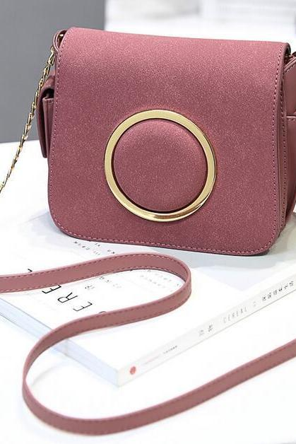 Women Messenger Shoulder Small Mini Bag - Pink
