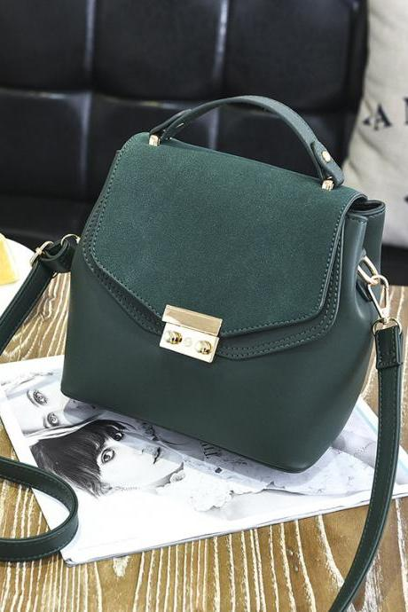Hot Sale New Design Women Leather Small Bag Shoulder Messenger Mini Handbag - Army Green