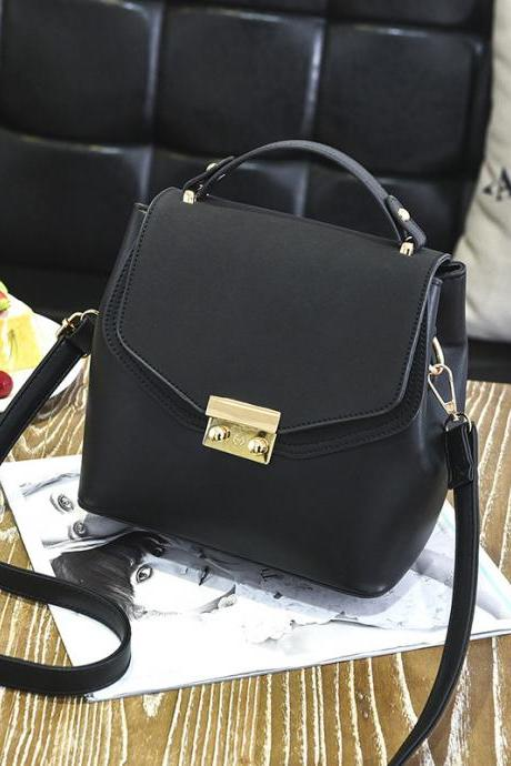 Hot Sale New Design Women Leather Small Bag Shoulder Messenger Mini Handbag - Black