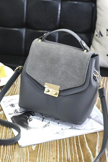 Hot Sale New Design Women Leather Small Bag Shoulder Messenger Mini Handbag - Grey
