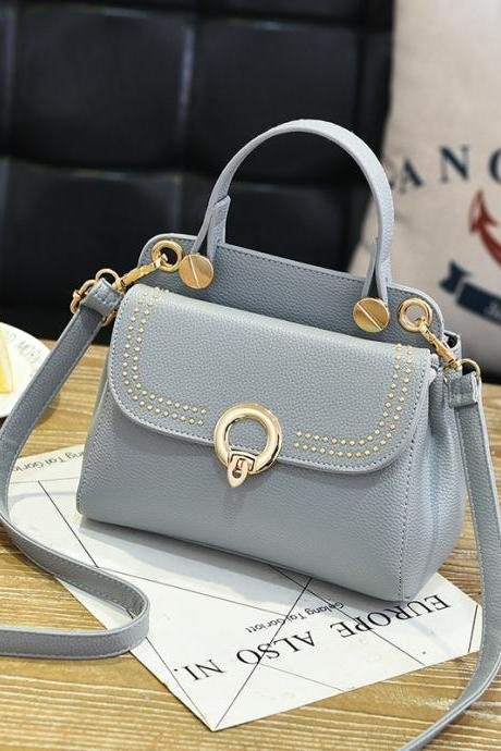 Fashion Mini Women Handbag for Girls Women's Shoulder Bag Crossbody Women Chain Bag - Grey