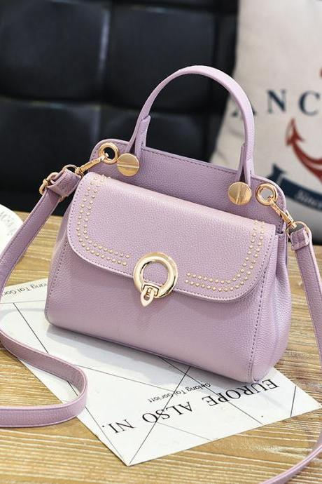 Fashion Mini Women Handbag for Girls Women's Shoulder Bag Crossbody Women Chain Bag - Purple