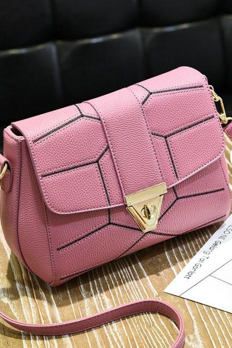 New Female Bag Crossbody Bag Fashion Shoulder Handbag - Pink