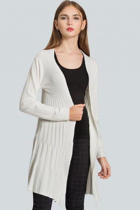 New Autumn Cardigan Sweater - White