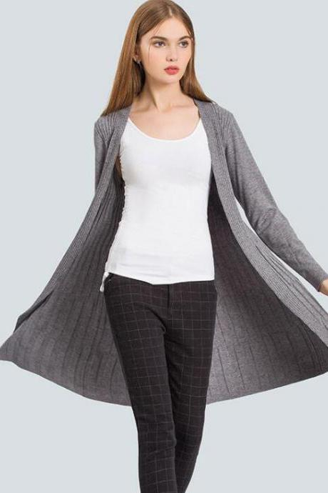 New Autumn Cardigan Sweater - Grey