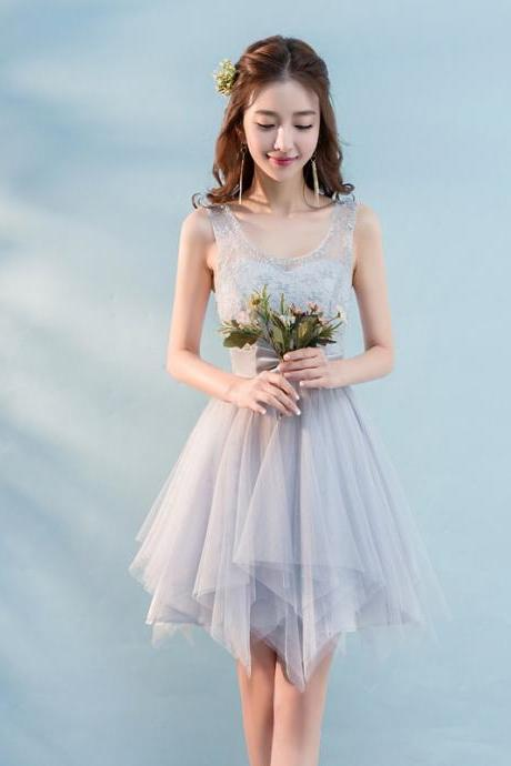 New Mini Bow Sleeveless Bridesmaid Party Dress