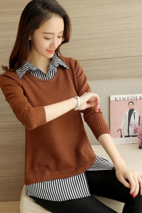 Woman Spring Long Sleeve Sweater 4 Colors