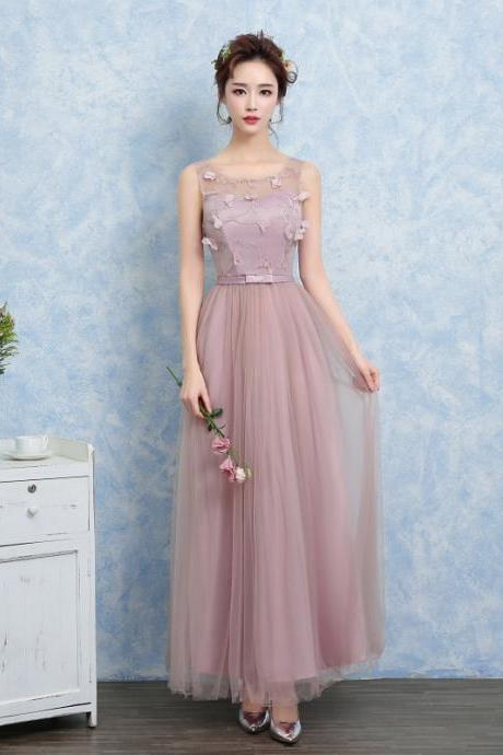 New Women Sleeveless Long Evening Party Prom Bridesmaid Wedding Dress