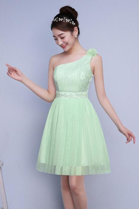 Sweet Fashion Mini Bridesmaid Party Dress - Green