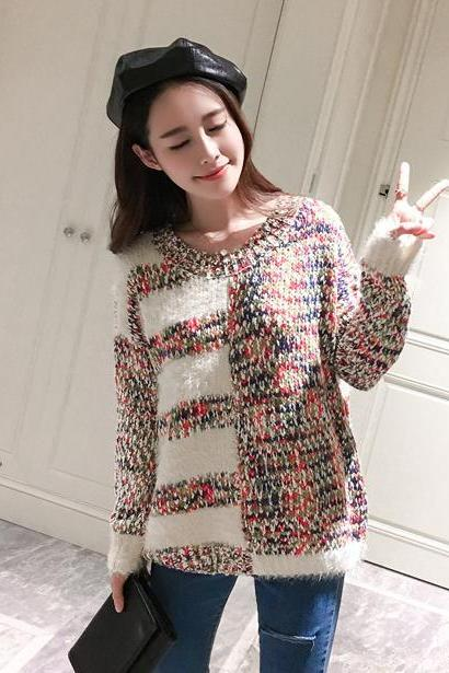 Autumn Fashion Coloured Sweater