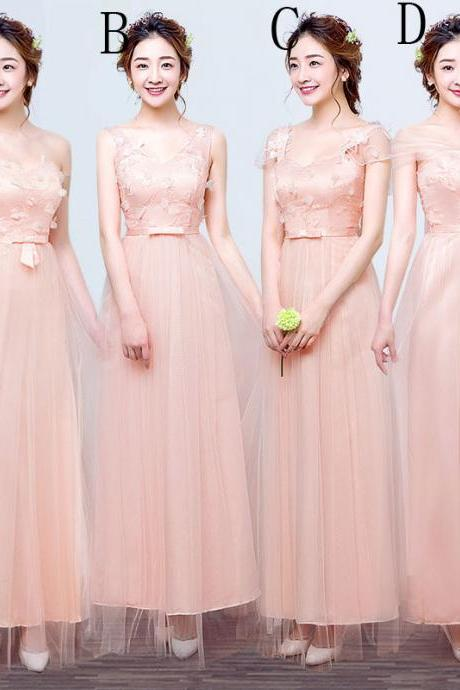 Fashion Long Bridesmaid Dresses Wedding Dress Prom Party Dress For Women - Pink