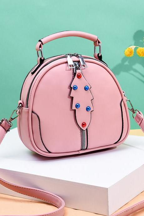 Cute Women Crossbody Bags Leather Mini Female Shoulder Bag Handbags - Pink