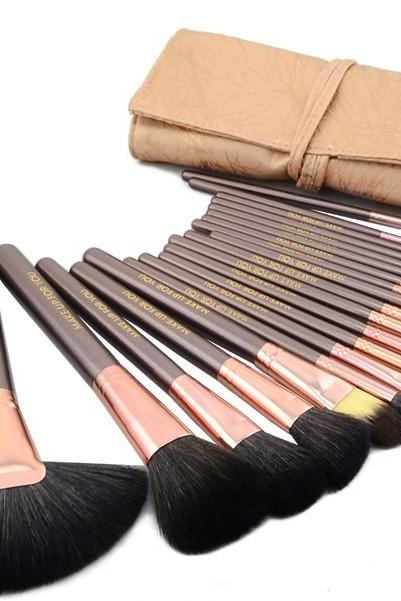 High Quality 20pcs Bristle/Pony/Goat hair Makeup Brushes set