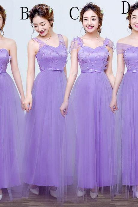 Fashion Long Bridesmaid Dresses Wedding Dress Prom Party Dress For Women - Purple