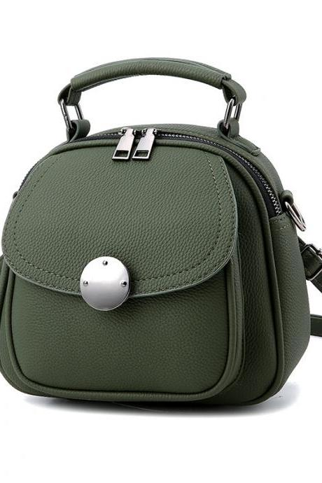 ute Backpack Small Bag School Mini Girls Women Leather Shoulder Bag - Amy Green