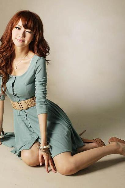 Autumn long-sleeve women dress