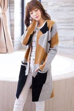 New long cardigan loose sweater coat