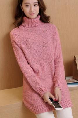 New winter lady long sweater DRESS