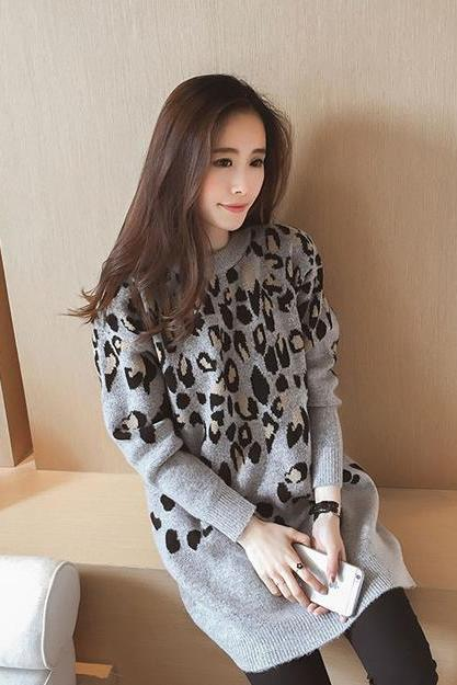 Fashion Warm Loose Long Sleeve Big Size Sweater Dress