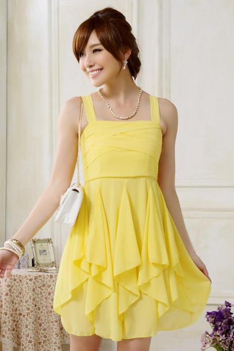 New Women Chiffon Mini Big Size Evening Dress Bridesmaid Wedding Dress