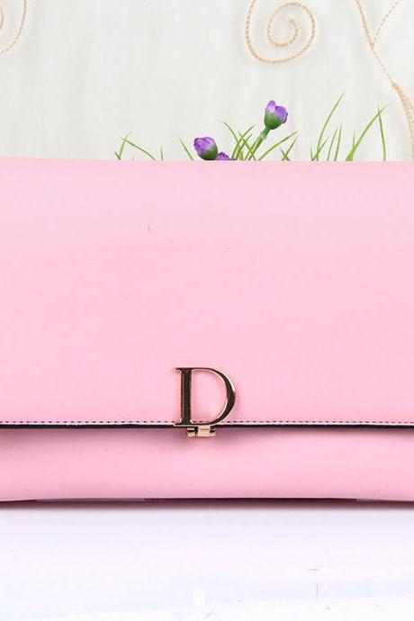 Women PU Leather Small Shoulder Handbag Crossbody Messenger Bag Satchel Purse - Pink