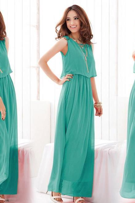 New Chiffon Dress Bohemia Beach Long Dress