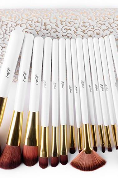 High Quality Fashion 15pcs Professional Makeup Brush Set Makeup Tools