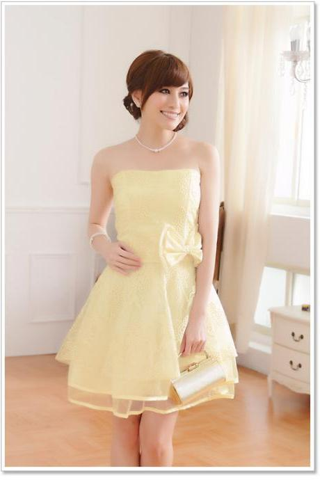 Lovely Beige Short Bridesmaid Dresses charming Elegant Mini Prom dresses