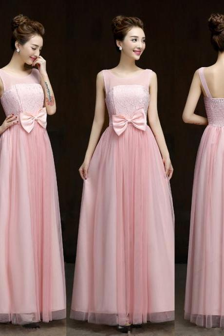 Summer style New 2016 fashion formal long design elegant gown evening dress - Pink