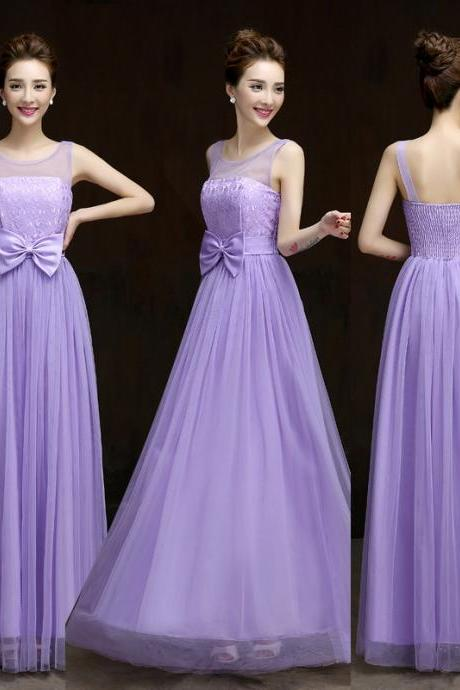 Summer style New 2016 fashion formal long design elegant gown evening dress - Purple