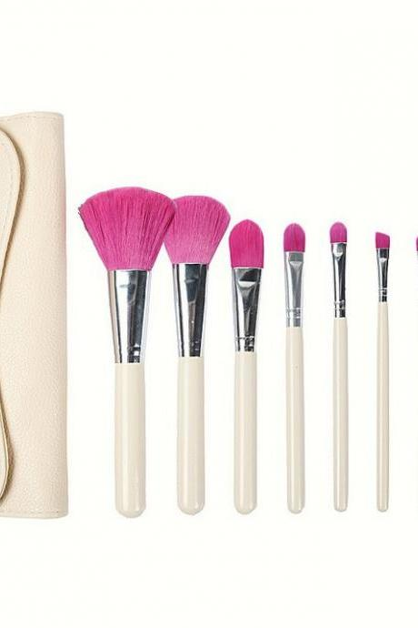 7pcs Makeup Brushes Set Eyebrow Foundation Shadows Make Up Tools Kits - White