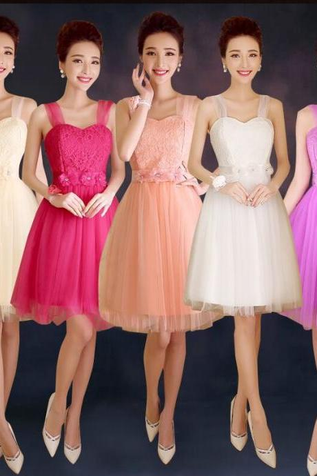Convertible Bridesmaid Dresses Mini Cheap Wedding Bridesmaid Dresses Formal Party Dresses - Champagne