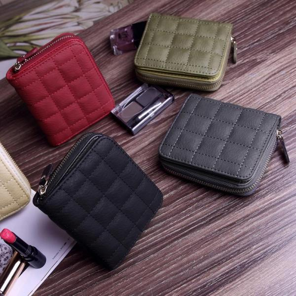 New Arrival Women Short Wallet Vintage Matte Women Solid Clutch Wallets Fashion Small Female Coin Purse Card Holde Burse Bags