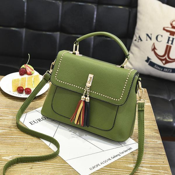 Tassel Women Messenger Bags Cross Body Shoulder Lady Bags Mini - Green
