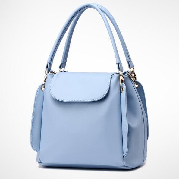Women Fashion Three Layers Shoulder Bag Casual Crossbody Handbag - Sky Blue