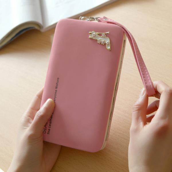 New Fashion Women Wallet Womens Clutch Long Style Designer Purses - Pink