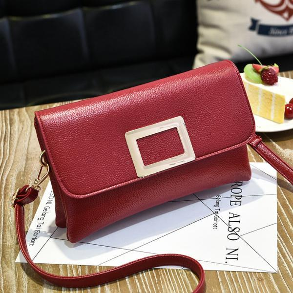 Fashion Women Mini Messenger Shoulder Bag - Wine Red