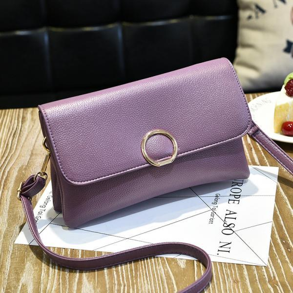 Fashion Women Mini Messenger Shoulder Bag - Purple