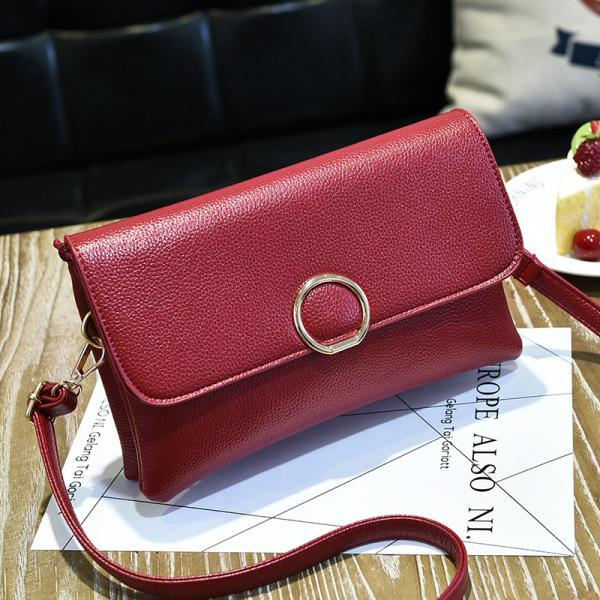 Fashion Women Mini Shoulder Bag - Wine Red