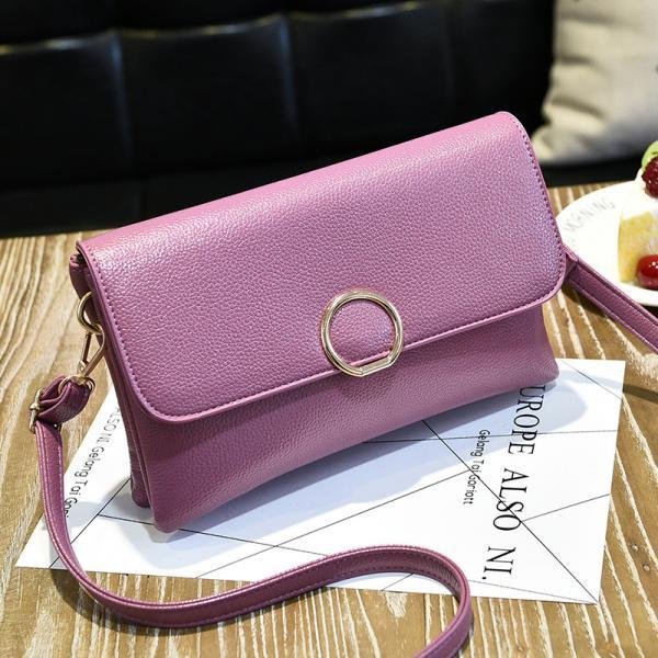 Fashion Women Mini Messenger Shoulder Bag - Pink
