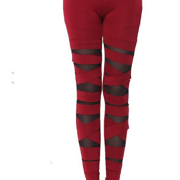 Women Sexy Casual Slim Leggings - Red