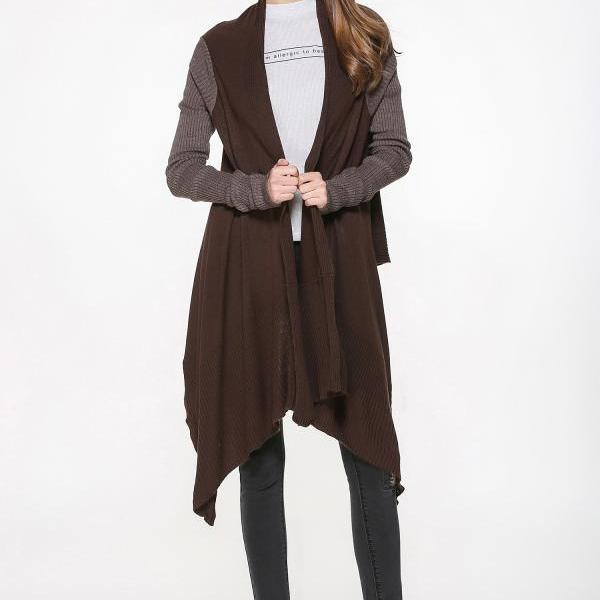 New Irregular Warm Knitted Cardigan Coat