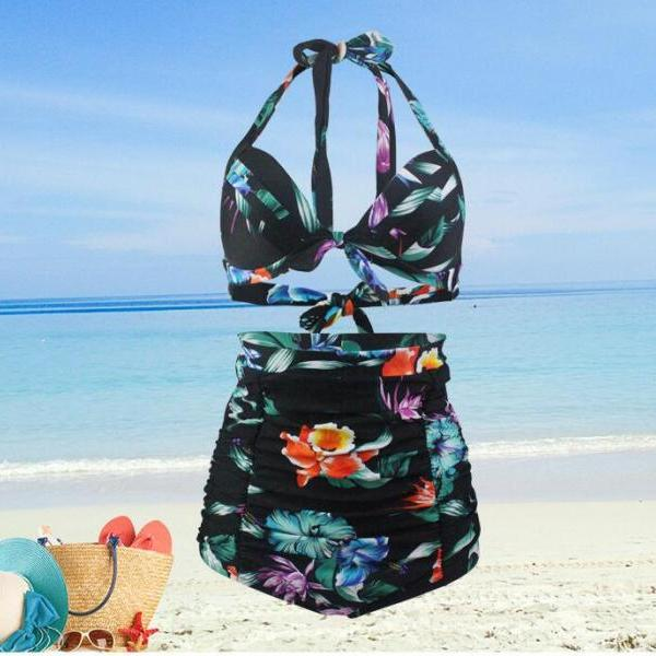 New Fashion Summer Women Swimwear Sexy Bohemian Style Bikini Swimsuit