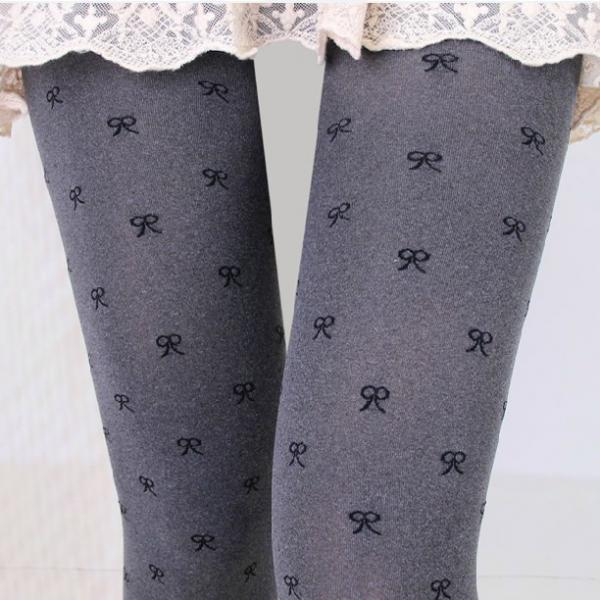 Sweet Bow Pantyhose Stockings For Women