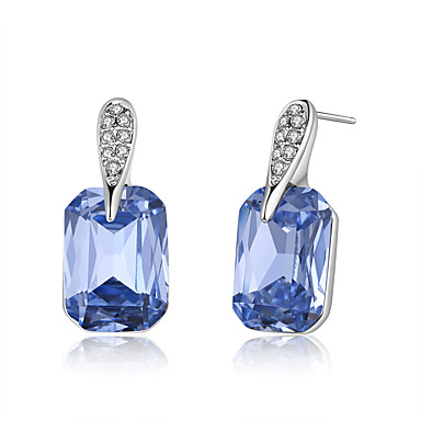 New Crystal / Cubic Zirconia Geometric Stud Earrings