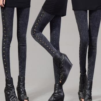 New Fashion Round nail Girl's Thickening Leggings