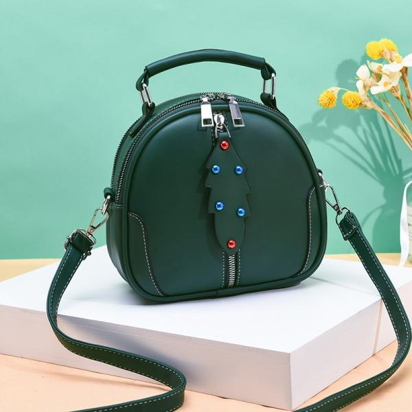 Cute Women Crossbody Bags Leather Mini Female Shoulder Bag Handbags - Green