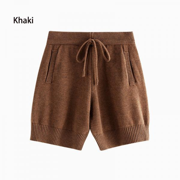 Winter High Waist Knit Shorts