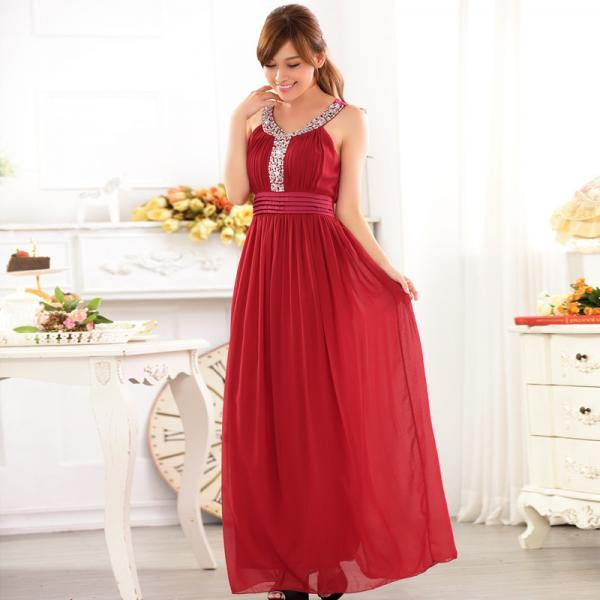 Fashion Women's Long Evening Formal Party Dress 3 Color