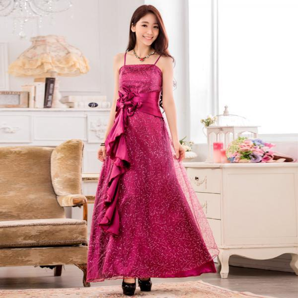 Fashion Sequins Decoration Women's Long Evening Formal Show Party Dress